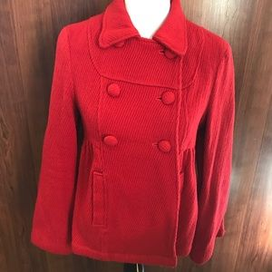 ❤️Red Forever 21 double breasted peacoat❤️